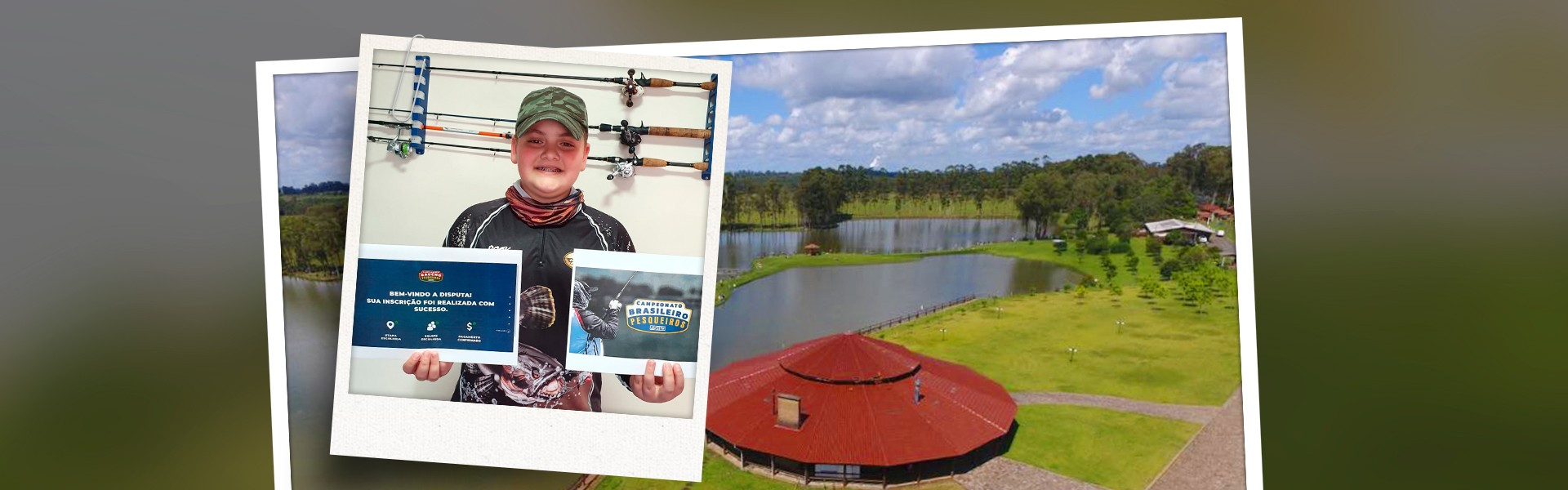 Menino de 11 anos ganha inscrição para o Campeonato Brasileiro em Pesqueiros