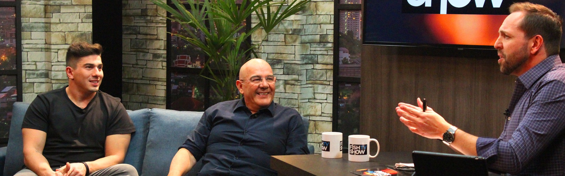 Fundadores da Fish TV, Luiz e Guilherme Motta são os convidados do Fish TV Show da semana