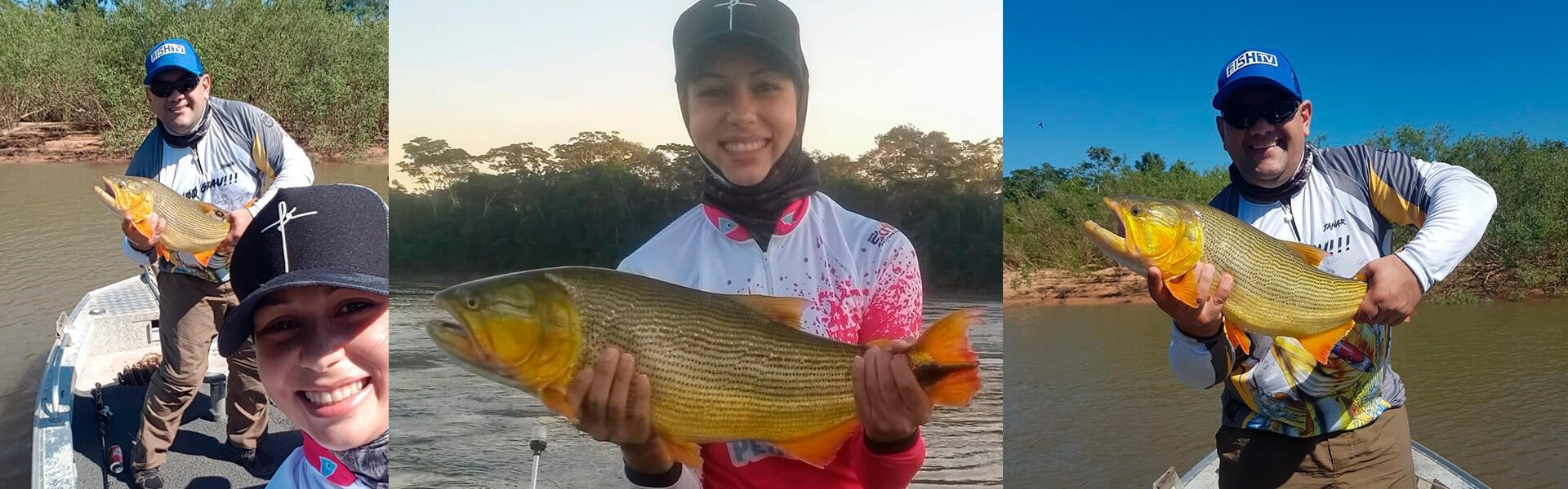 Através do Clube Fish TV, pescador pesca no Mato Grosso