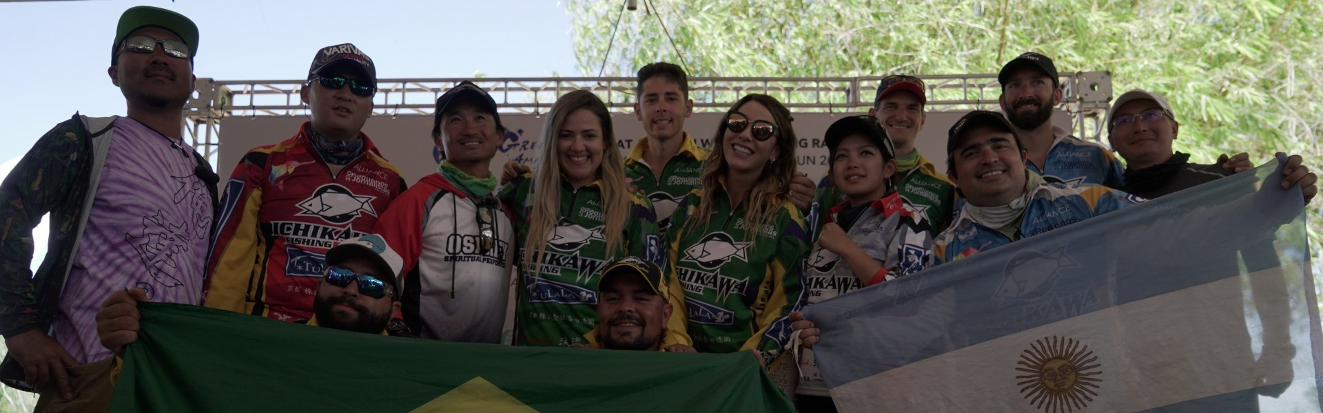 Competidores que participaram do World Fishing Rally