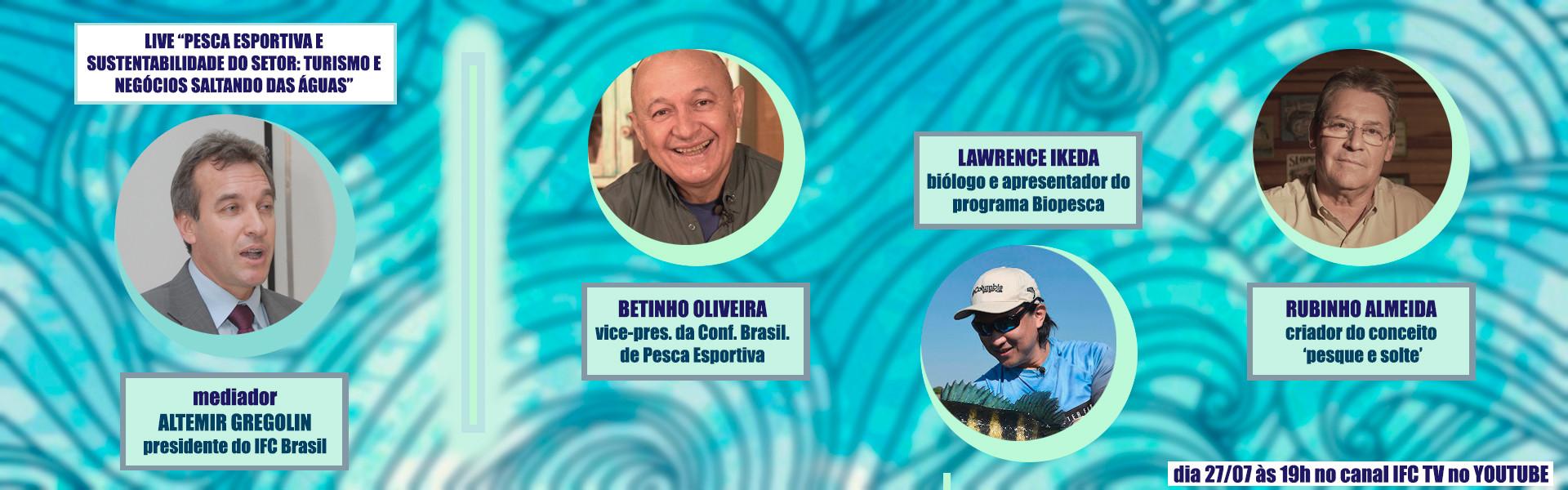 Sustentabilidade na pesca esportiva: grandes nomes do setor debatem o tema em live no canal IFC TV