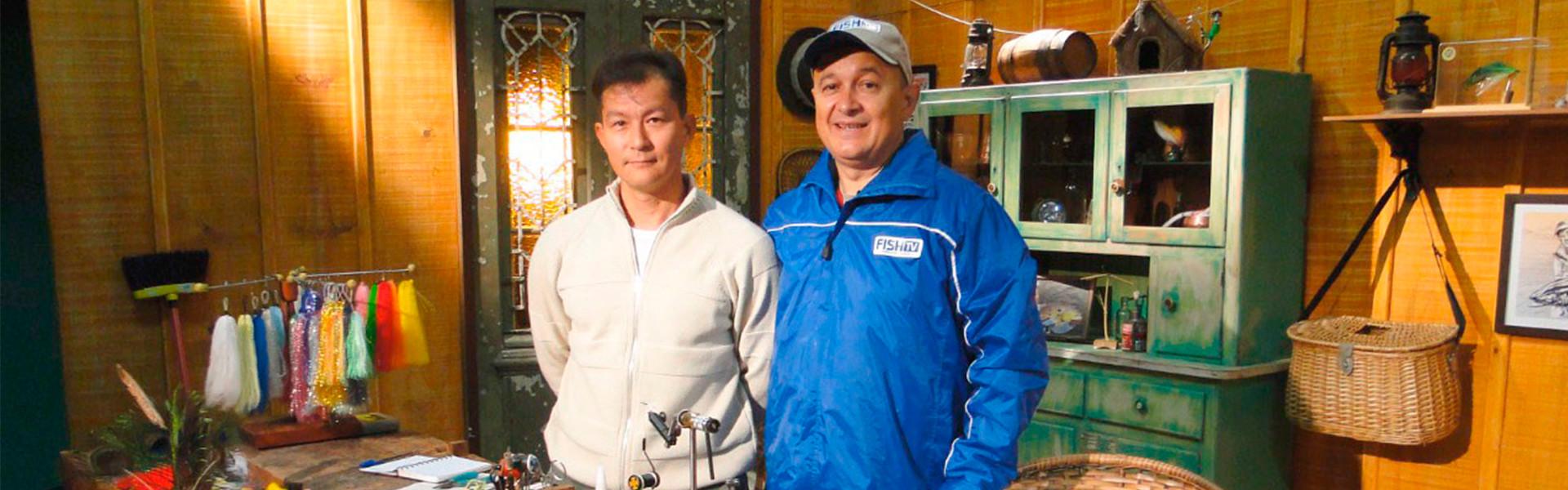 Gerson Kavamoto e Betinho Oliveira: amizade eternizada pela pesca