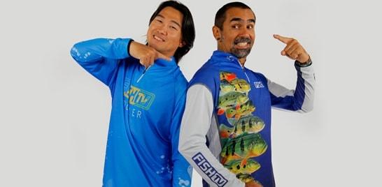 Fish TV apresenta camisetas licenciadas para pesca esportiva