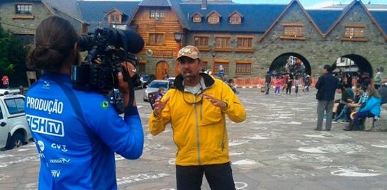 Bastidores Fish TV - Na Pegada do Fly vira notícia em Bariloche