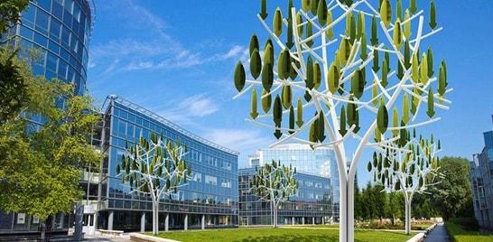 Empresa francesa desenvolve turbina eólica em formato de árvore