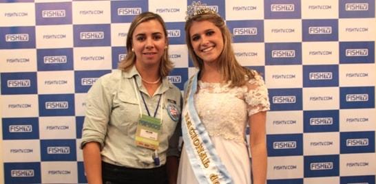Comissão Argentina visita estande da FishTV na Feipesca