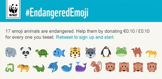 WWF usa emojis em campanha no Twitter para salvar animais em extinção