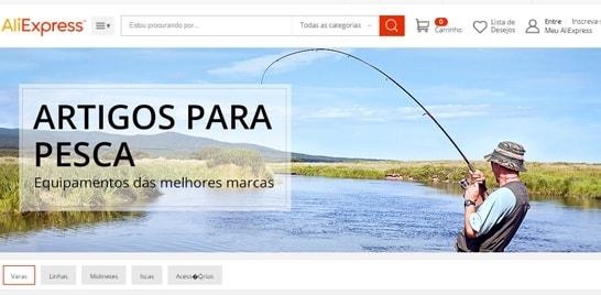 AliExpress cria página promocional de produtos de pesca
