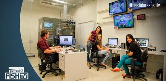Bastidores Fish TV - Equipe prepara grade especial