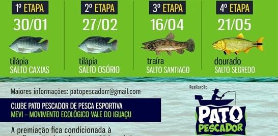 3ª etapa da I Copa Iguaçu de Pesca Esportiva acontece no dia 16 deste mês