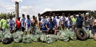 Voluntários recolhem 600 quilos de lixo em rios do MS