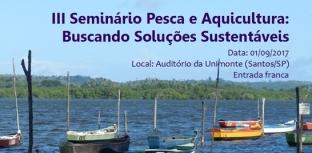 Santos sedia seminário de pesca e aquicultura