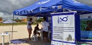 Conscientização da conservação marinha durante o carnaval na Ilha do Mel