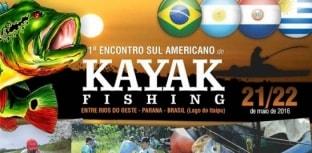 Paraná sedia em maio o 1º Encontro Sul Americano de Kayak Fishing