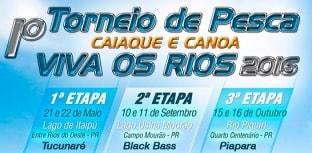 Inscrições abertas para a 1º etapa do Torneio de Pesca com Caiaque e Canoa