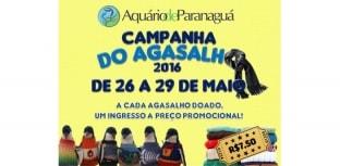 Agasalho rende desconto no Aquário de Paranaguá