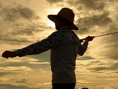 Fly fishing em água salgada
