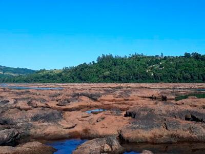 Seca também afeta rio Uruguai