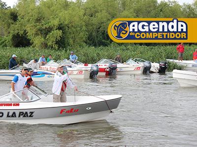 Pescadores prontos para a ação de pesca esportiva