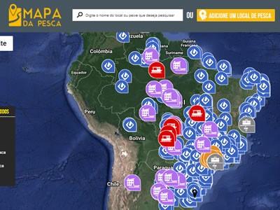 Mapa da Pesca: Mostre para o mundo os locais de pesca que você conhece