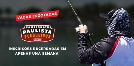 Esgotadas as inscrições para o Campeonato Paulista em Pesqueiros
