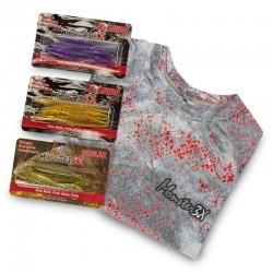 camiseta, isca monster fish tv