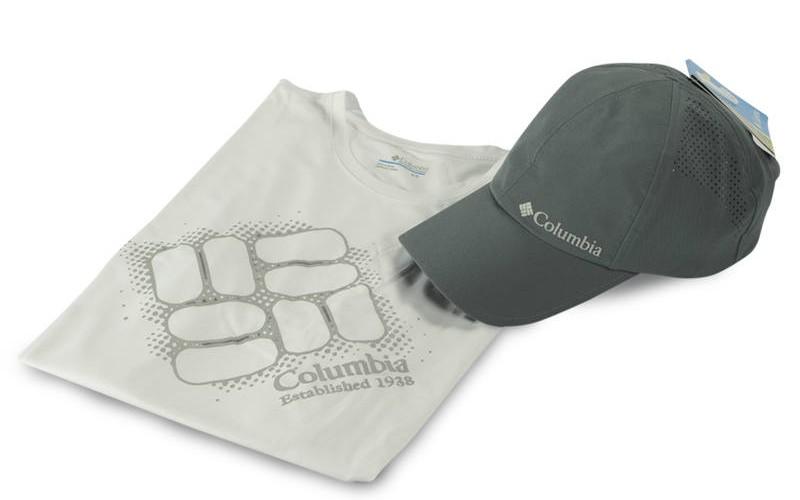 camiseta, boné, comlumbia fish tv, clube