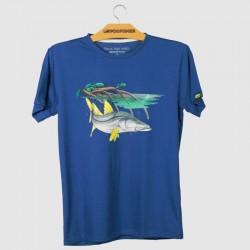 caçador, camiseta, azul, for fisher