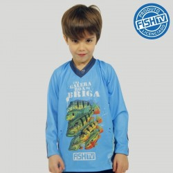 Camiseta Infantil Galera Fish TV