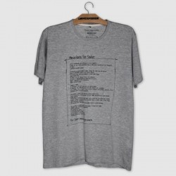 manifesto camiseta for fisher