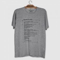 Camiseta cinza manifesto for fisher